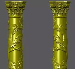 金色龙凤罗马柱