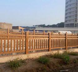 木纹隔离护栏