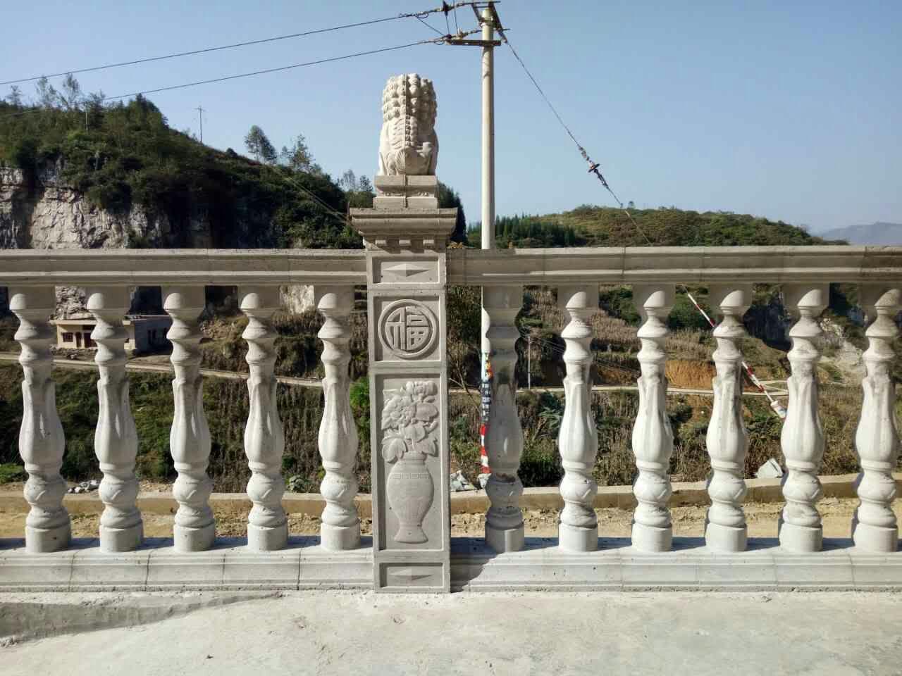 云南澳门百家樂网站狮子柱头阳台花瓶柱
