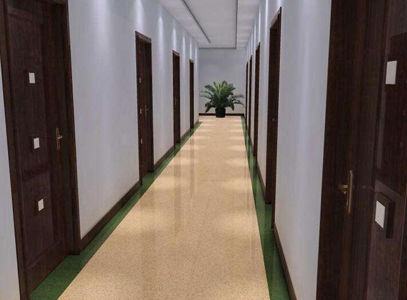 楼层过道PVC塑胶地板