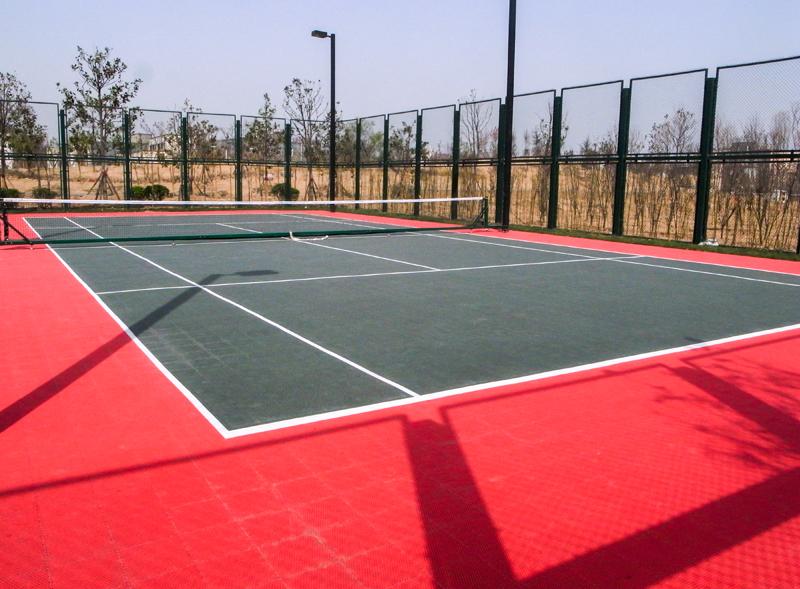 室外羽毛球运动地板