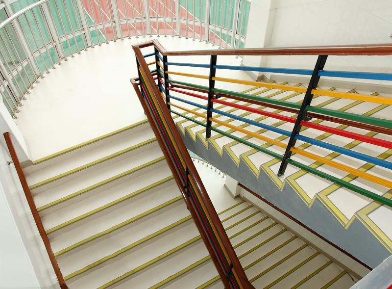 幼兒園樓梯PVC塑地板