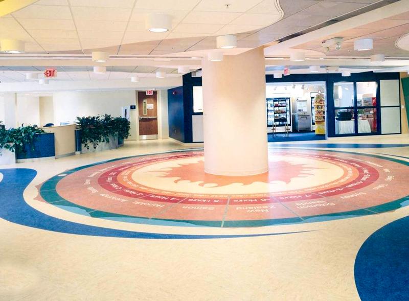 商场大厅塑胶地板
