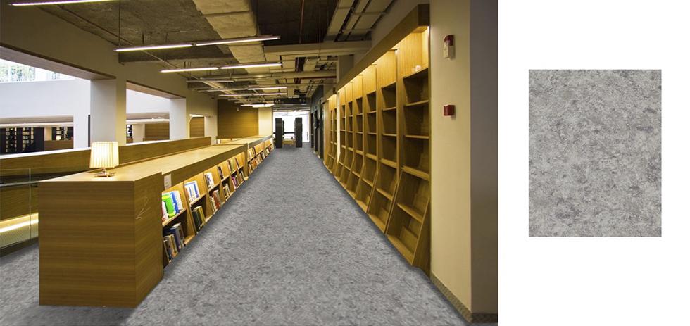 商場圖書店塑膠地板裝修