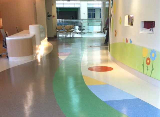 pvc醫院塑膠地板施工