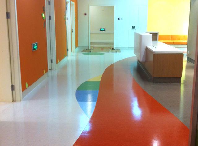 昆明pvc醫院塑膠地板施工