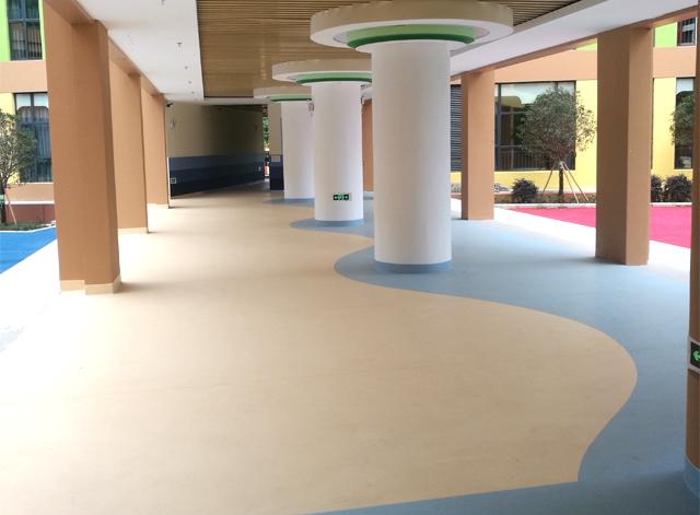 幼兒園塑膠地板應用