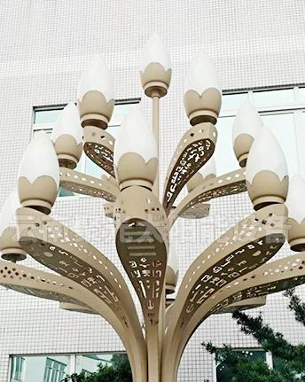 庭院玉兰灯