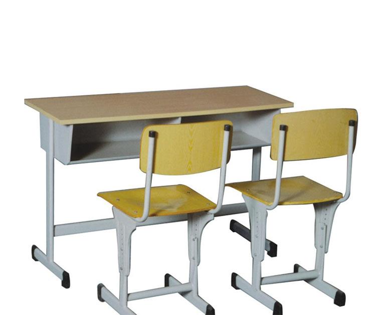 双人课椅桌