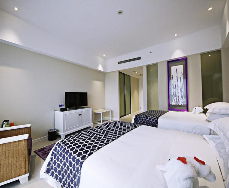 如此高颜值的宾馆床你很难不喜欢吧