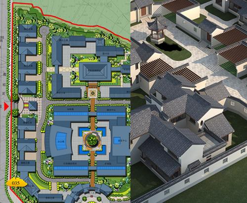 武定县祥和老年公寓园林景观工程设计案例