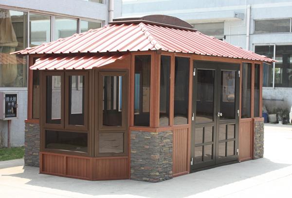 园林景观-塑木房屋