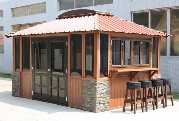景观园林-塑木房屋