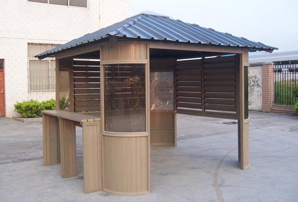 园林景观-木塑房屋