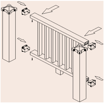 塑木护栏安装示意图