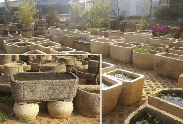 景观园林石缸石磨
