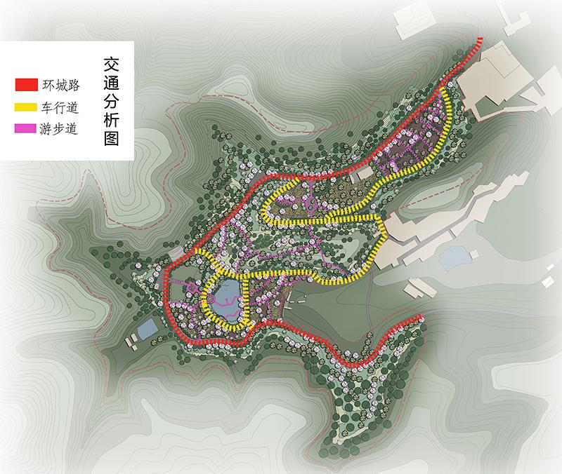 云南楚雄姚安县樱花谷景观设计方案-交通分析