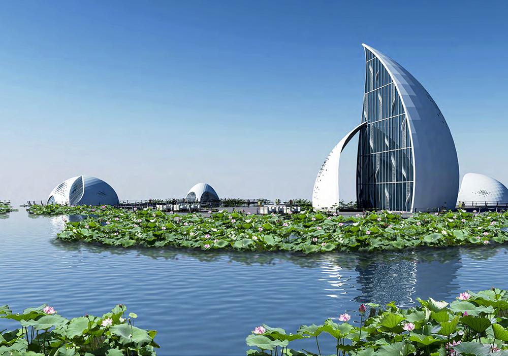 贵州安龙招堤综合风景区-荷花博物馆