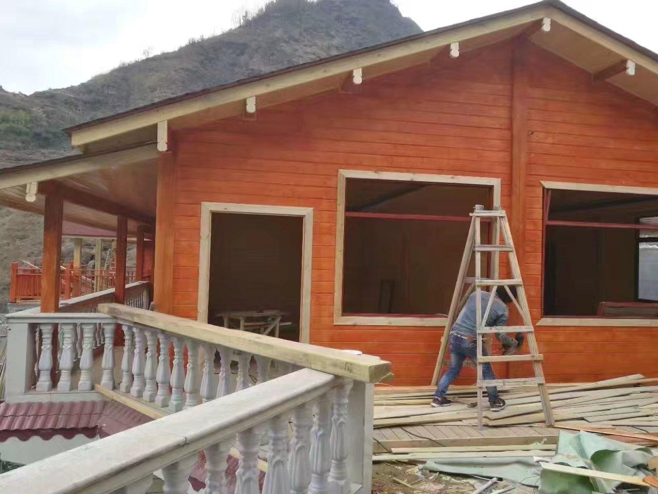 防腐木木屋能够做到为什么建造简便迅速
