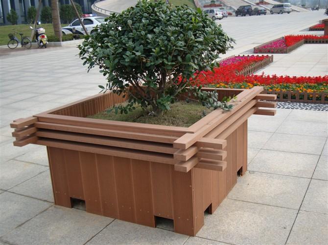 景观防腐木花盆