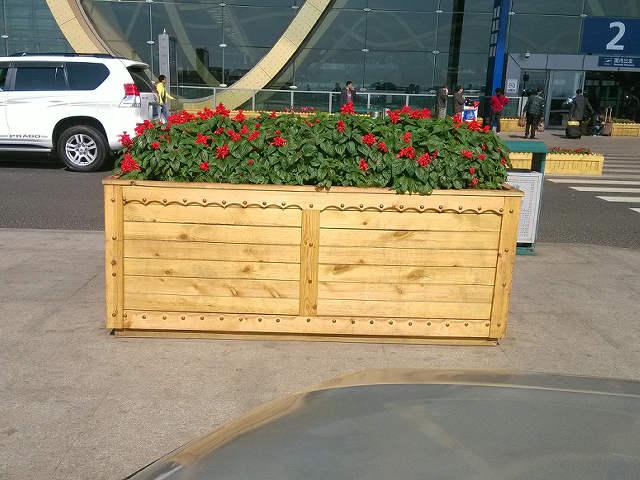 方形防腐木花盆