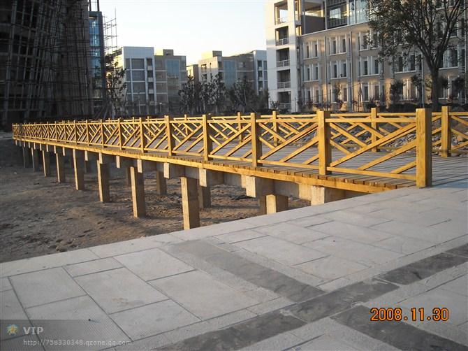 防腐木桥护栏