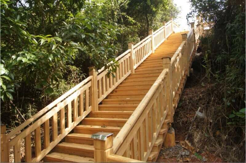 景观防腐木护栏