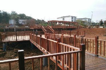 公园景观防腐木护栏