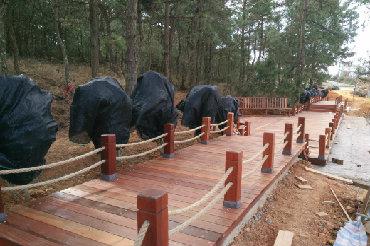 公园防腐木护栏