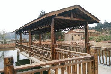 公园防腐木景观护栏