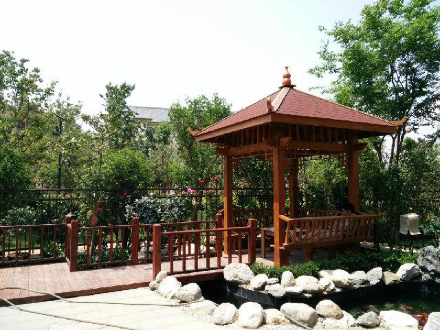 公园防腐木凉亭