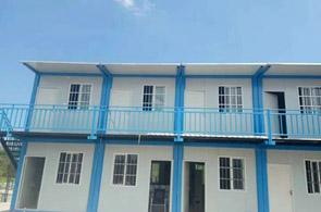 蓝色集装箱活动房