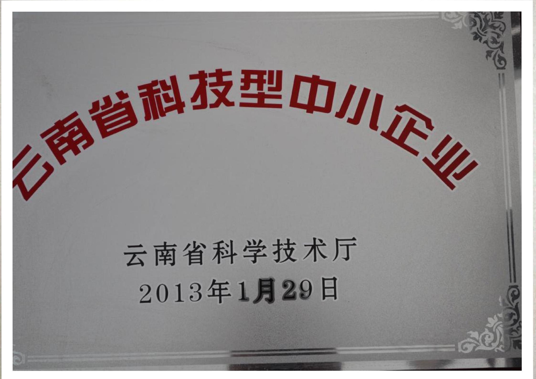 云南省科技型中小企业