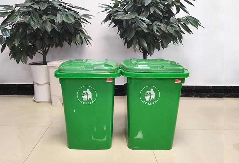 绿色50L垃圾桶