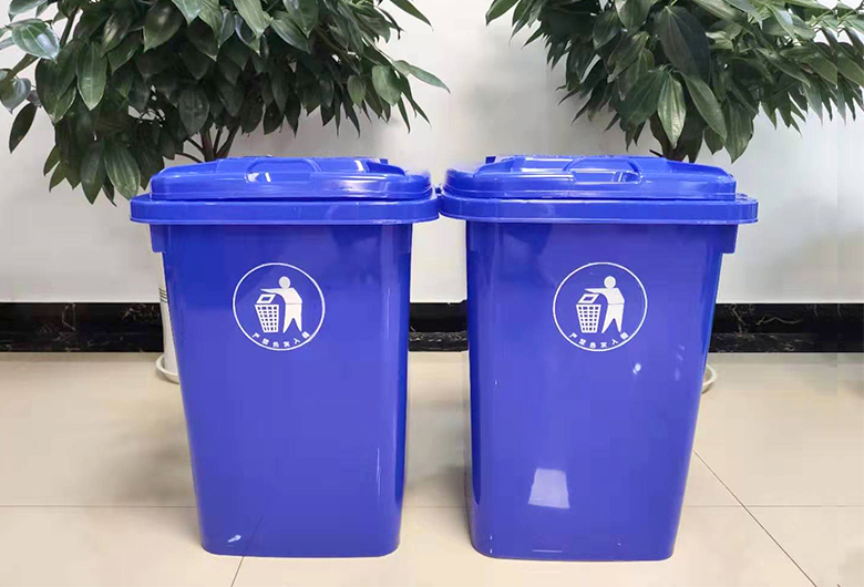 蓝色50L垃圾桶