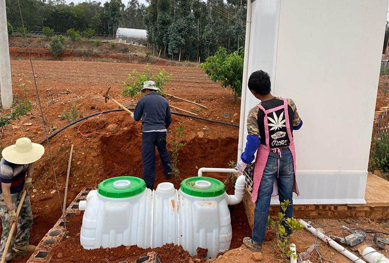 科鑫农村塑料化粪池投放案例