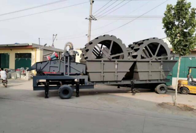 大型轮式洗砂机,四槽轮式洗砂机