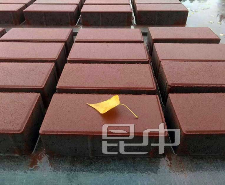 暗红混凝土透水砖