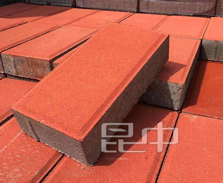 砖红色混凝土w88砖