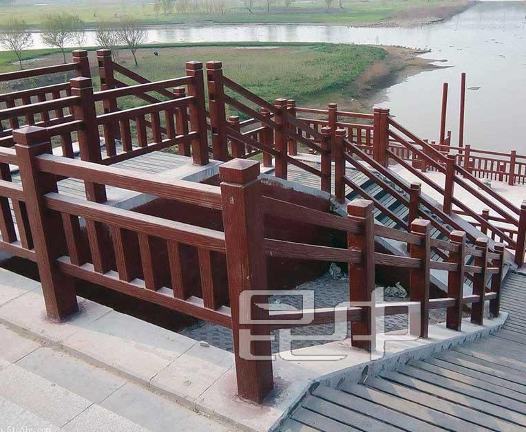云南公园楼梯防木栏厂家直销