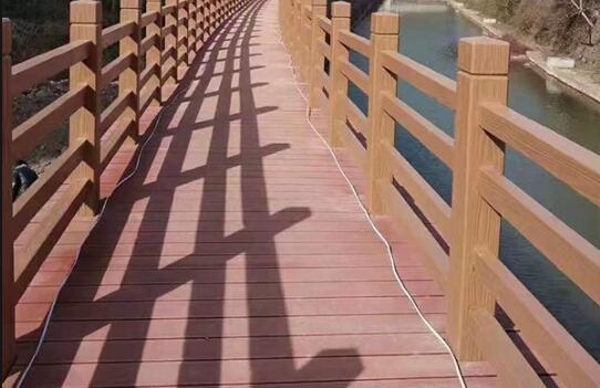 「昆明仿木栏杆」仿木混凝土栏杆的安装