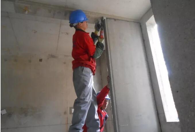 轻质隔墙板现场施工示例(方法)