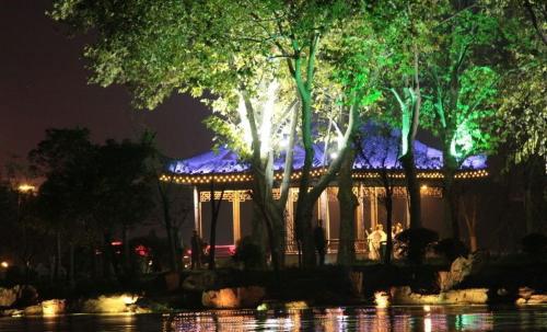 景观园林灯光亮化效果图