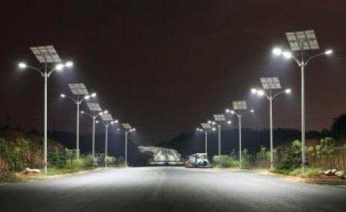 农村太阳能路灯图片