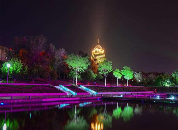 云南景观公园灯光亮化设计图