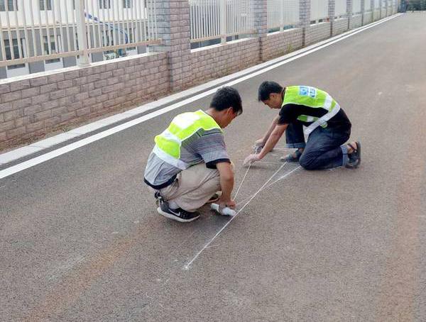 春城路全段道路划线测量