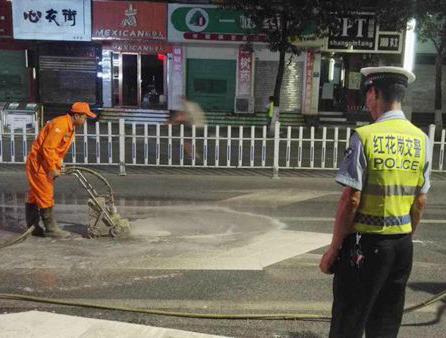 道路除线施工
