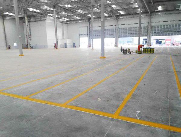 厂区热熔道路划线施工