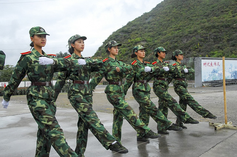 軍訓項目-正步姿勢訓練