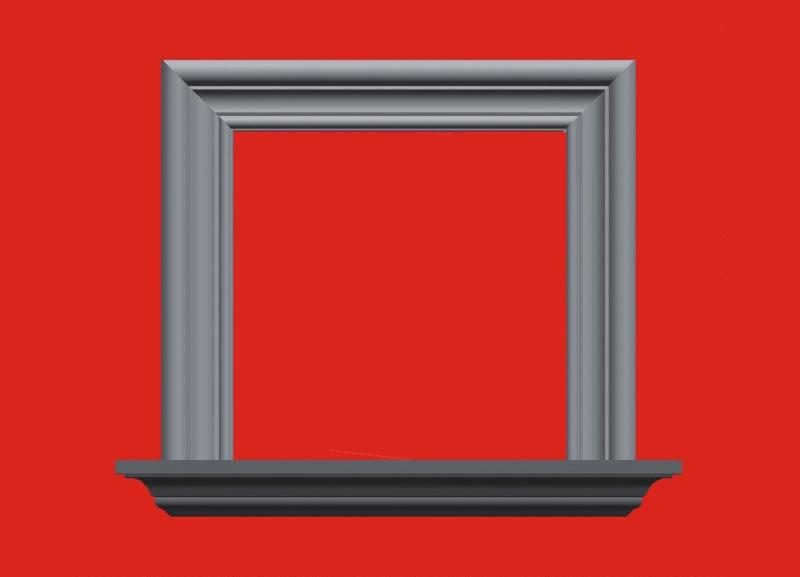 相框窗套線條
